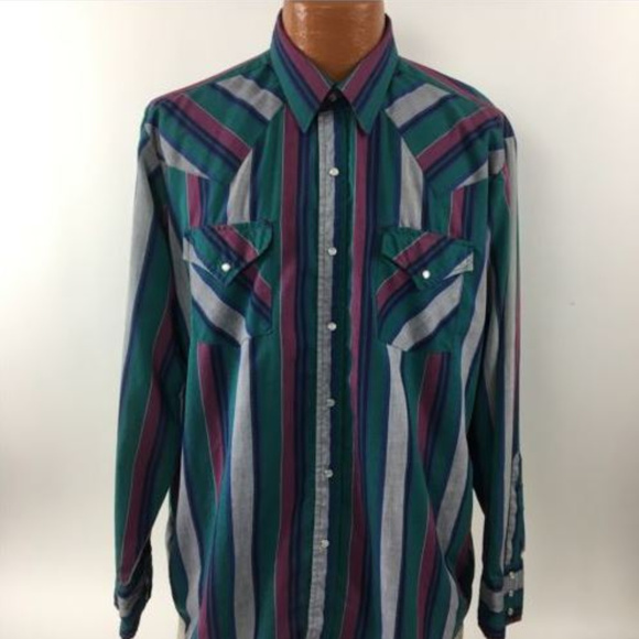582af4bd57 Ely Cattleman Other - Ely Cattleman Shirt Size 17 35 Western Pearl Snap.